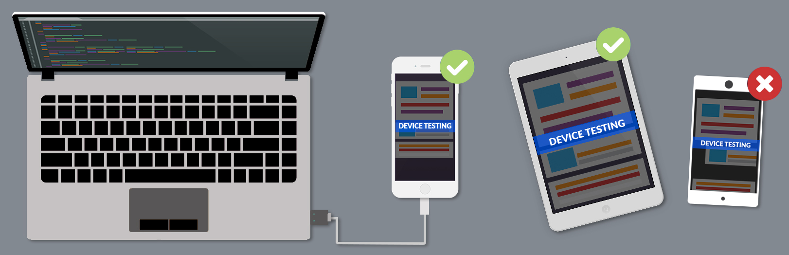 Image showing the testing process on phones/tablets