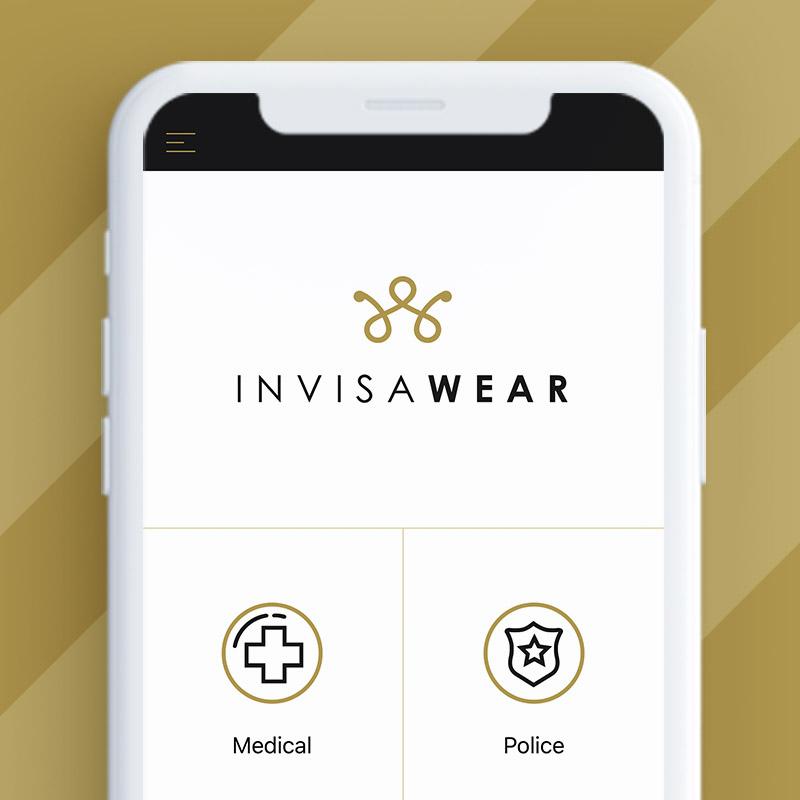 invisawear app on phone
