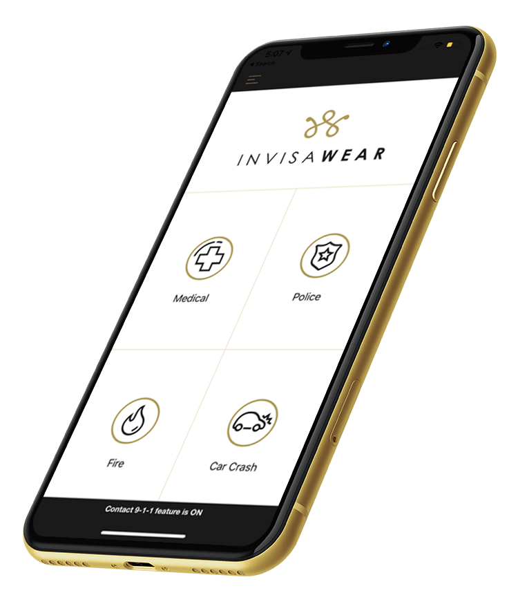 InvisaWear is an elegant smart jewellery app created by Zco for alerting friends, family and police during an emergency